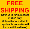 Free Shipping on all orders within USA.